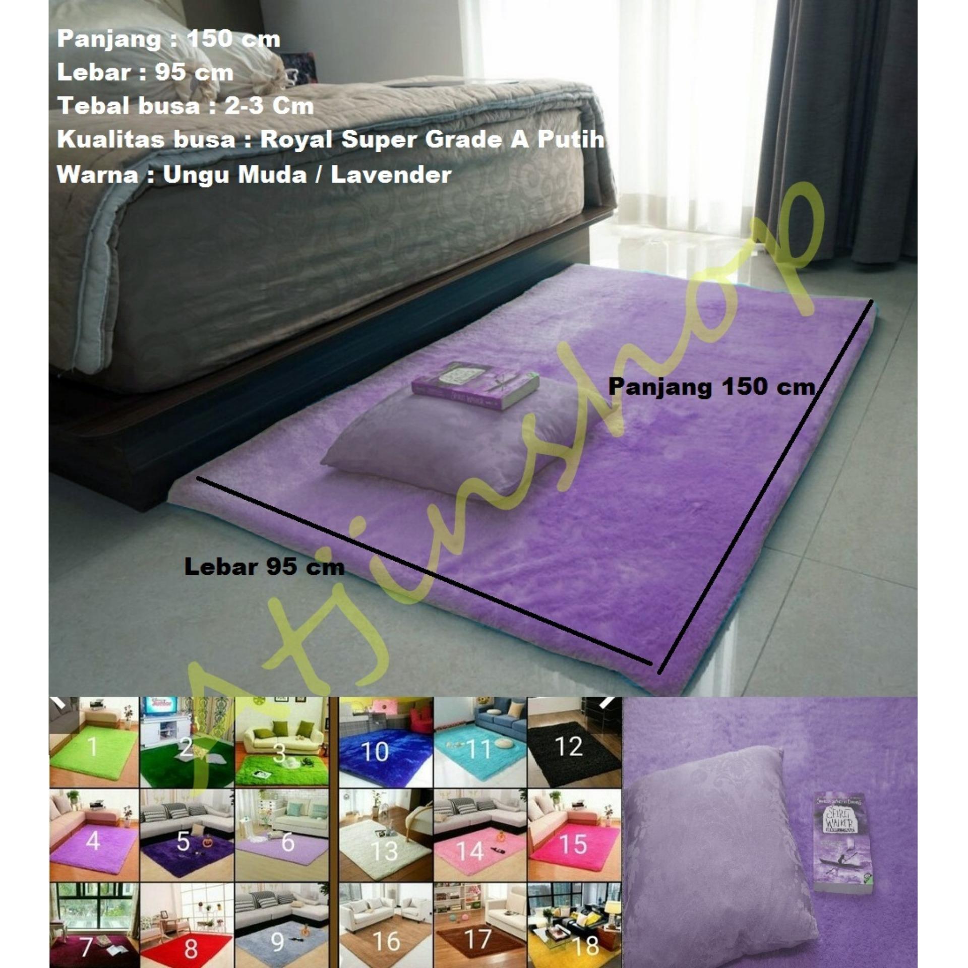 TjinCollection-Karpet Bulu Rasfur Busa Polos Berkualitas 150x100Cm [Ready 16 Warna]